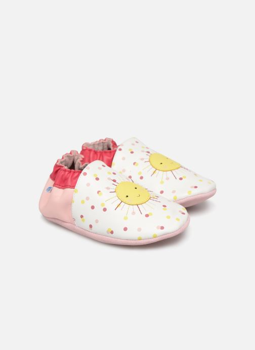 Slippers Robeez Sun Shinning White detailed view/ Pair view