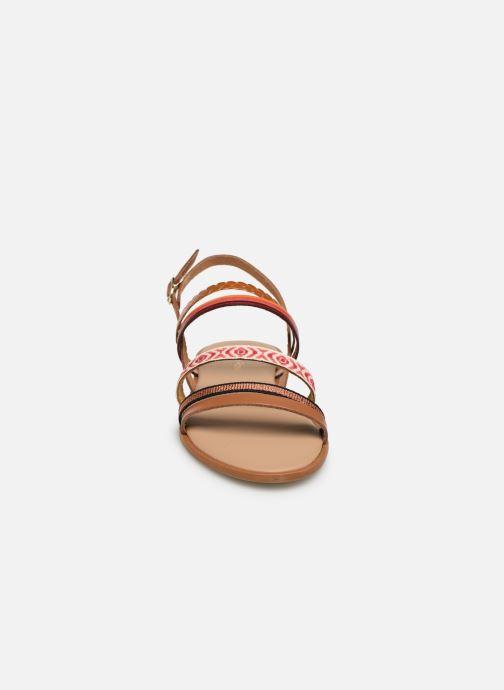 Sandales et nu-pieds Georgia Rose Dominka Orange vue portées chaussures