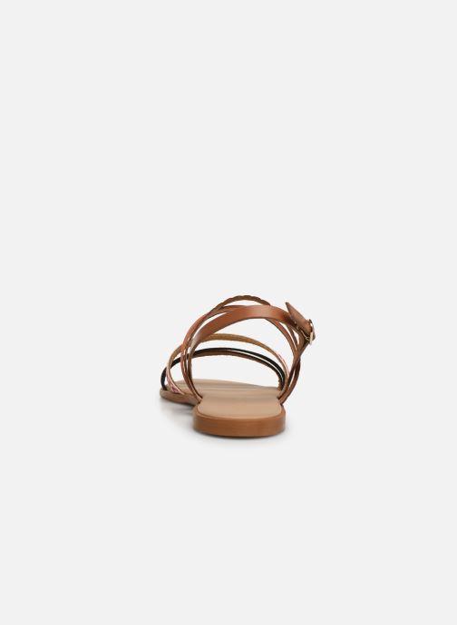 Sandales et nu-pieds Georgia Rose Dominka Orange vue droite