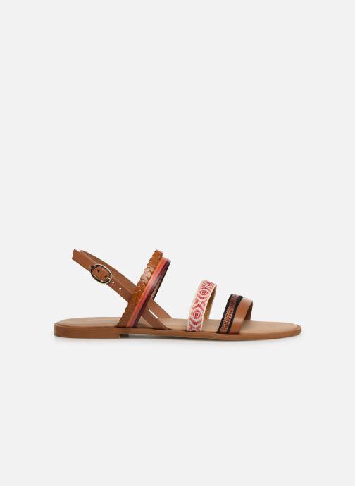 Sandales et nu-pieds Georgia Rose Dominka Orange vue derrière