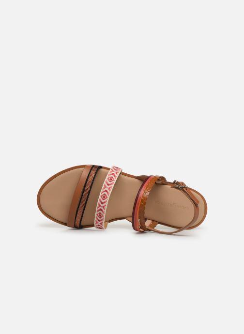 Sandales et nu-pieds Georgia Rose Dominka Orange vue gauche