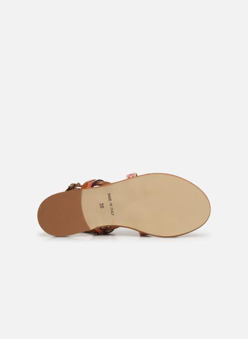 Sandales et nu-pieds Georgia Rose Dominka Orange vue haut