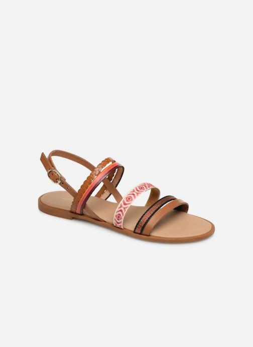 Sandales et nu-pieds Georgia Rose Dominka Orange vue détail/paire