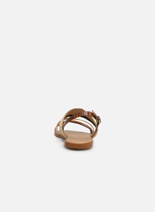 Sandales et nu-pieds Georgia Rose Dominka Marron vue droite