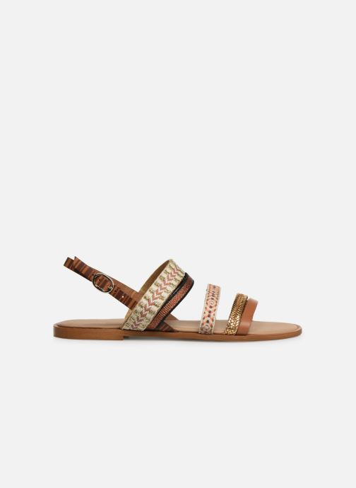 Sandales et nu-pieds Georgia Rose Dominka Marron vue derrière