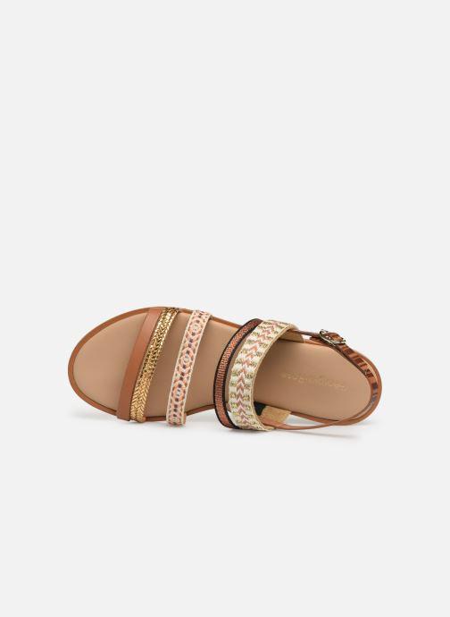 Sandales et nu-pieds Georgia Rose Dominka Marron vue gauche