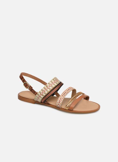 Sandales et nu-pieds Georgia Rose Dominka Marron vue détail/paire