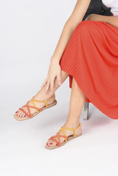 Sandales et nu-pieds Georgia Rose Dolbia Orange vue bas / vue portée sac
