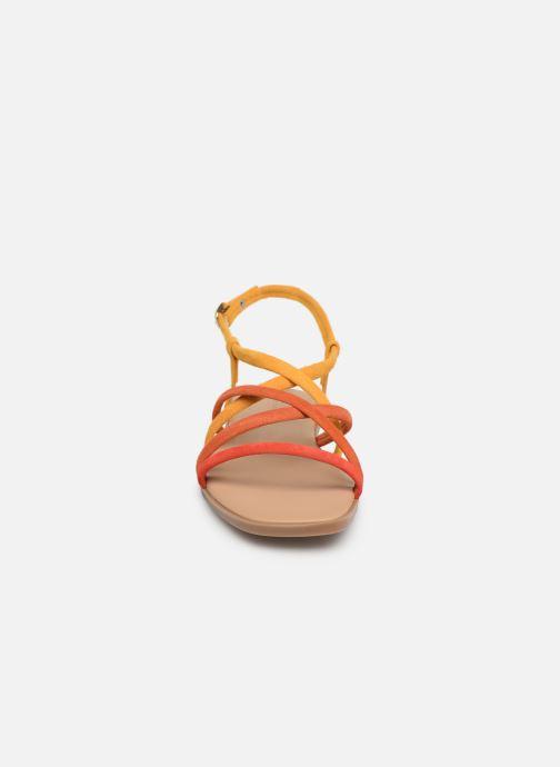 Sandalen Georgia Rose Dolbia orange schuhe getragen
