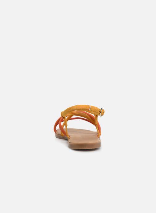 Sandales et nu-pieds Georgia Rose Dolbia Orange vue droite