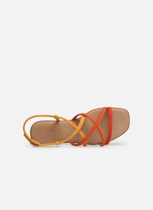 Sandales et nu-pieds Georgia Rose Dolbia Orange vue gauche