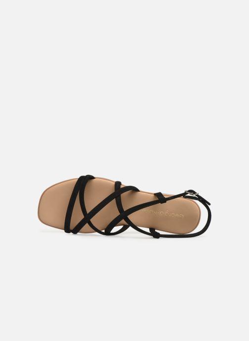 Sandales et nu-pieds Georgia Rose Dolbia Noir vue gauche