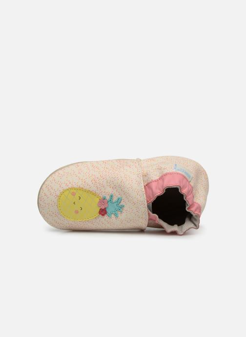 Slippers Robeez Sweet Pinapple White view from the left