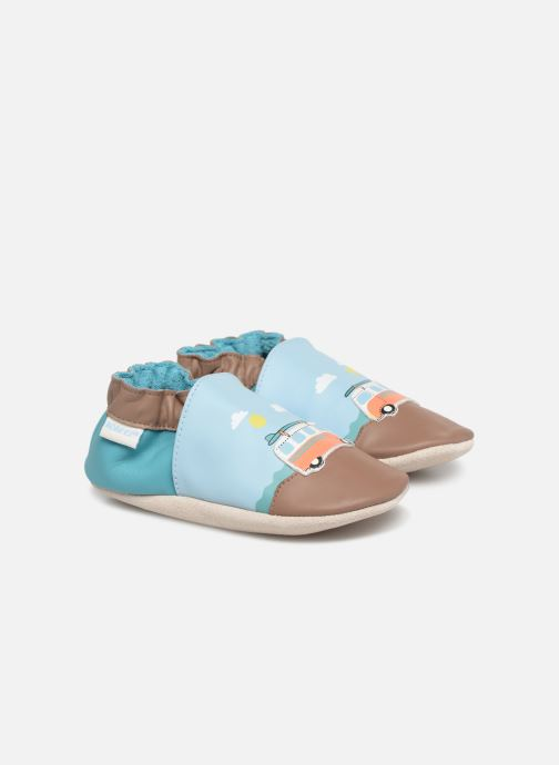 Slippers Robeez Surfing Summer Blue detailed view/ Pair view