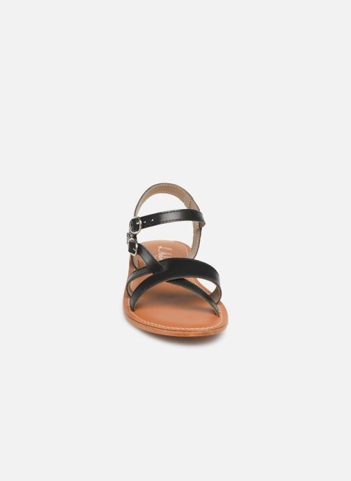 Sandales et nu-pieds L'Atelier Tropézien SH651 Noir vue portées chaussures