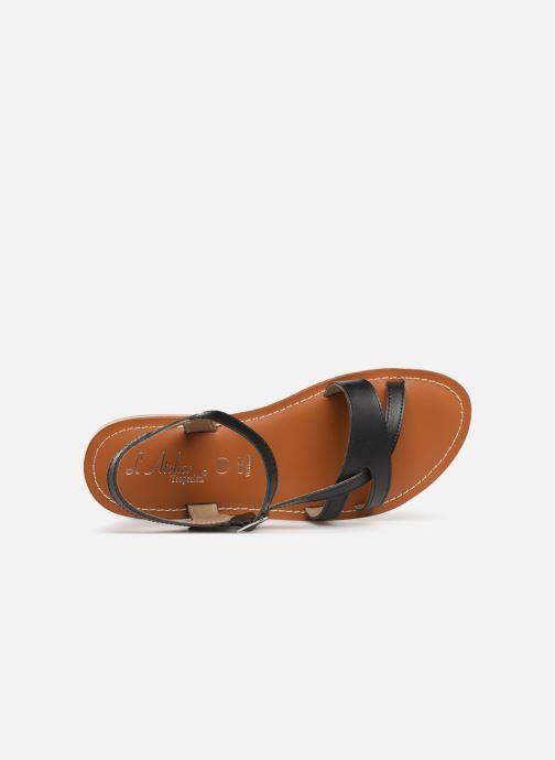 Sandalen L'Atelier Tropézien SH651 Zwart links