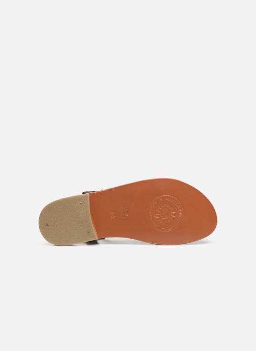 Sandales et nu-pieds L'Atelier Tropézien SH651 Noir vue haut