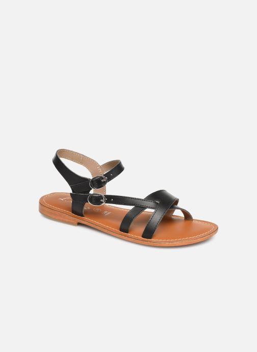 Sandals L'Atelier Tropézien SH651 Black detailed view/ Pair view