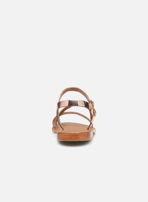 Sandals L'Atelier Tropézien SH407 Bronze and Gold view from the right
