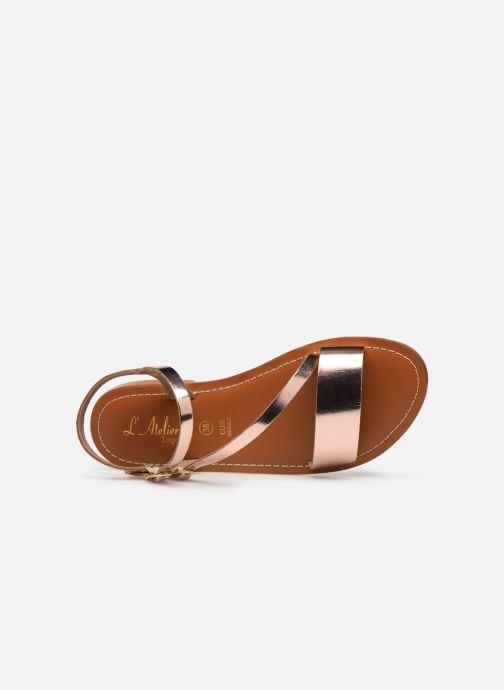 Sandales et nu-pieds L'Atelier Tropézien SH407 Or et bronze vue gauche