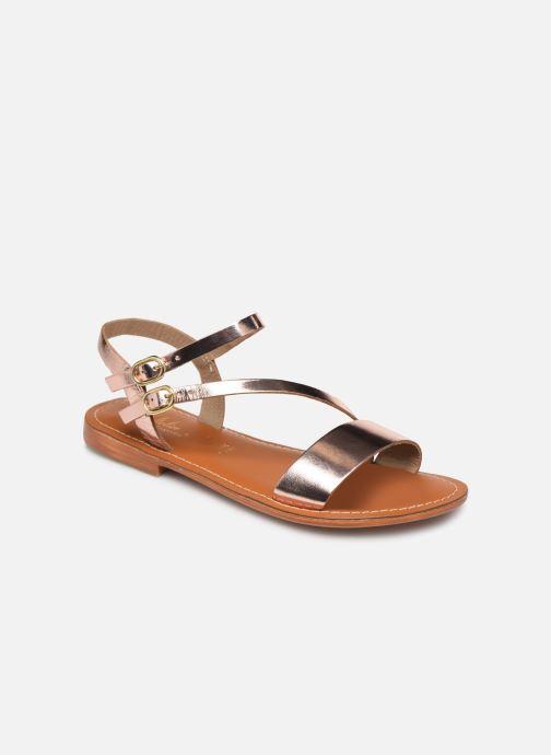 Sandales et nu-pieds L'Atelier Tropézien SH407 Or et bronze vue détail/paire