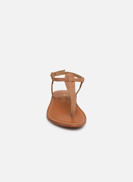 Sandales et nu-pieds L'Atelier Tropézien SH600 Marron vue portées chaussures