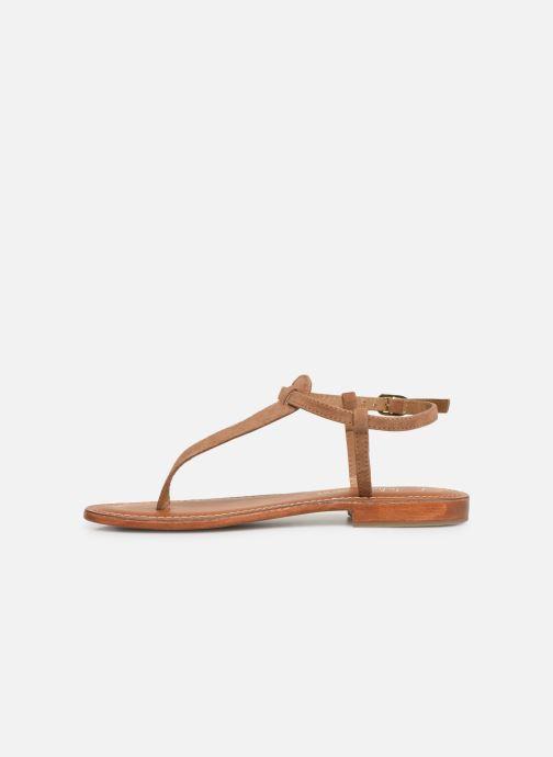 Sandales et nu-pieds L'Atelier Tropézien SH600 Marron vue face