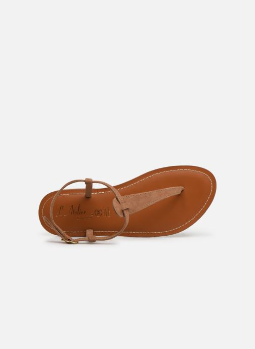 Sandales et nu-pieds L'Atelier Tropézien SH600 Marron vue gauche