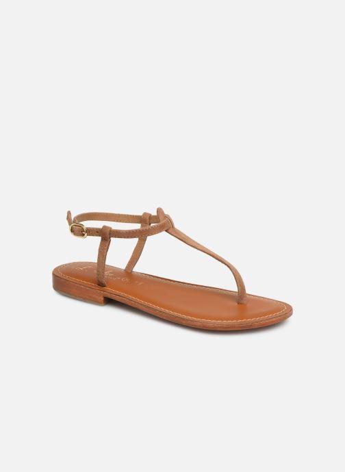 Sandales et nu-pieds L'Atelier Tropézien SH600 Marron vue détail/paire