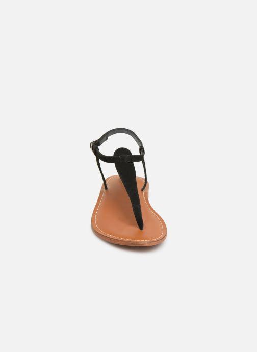 Sandales et nu-pieds L'Atelier Tropézien SH600 Noir vue portées chaussures