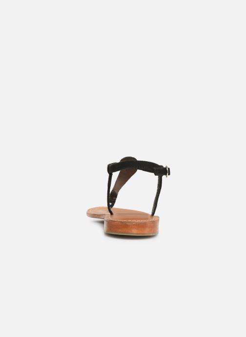 Sandales et nu-pieds L'Atelier Tropézien SH600 Noir vue droite