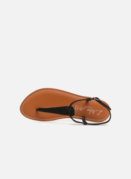 Sandales et nu-pieds L'Atelier Tropézien SH600 Noir vue gauche