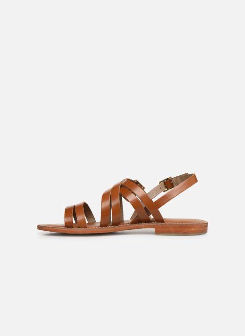 Sandals L'Atelier Tropézien SH655 Brown front view