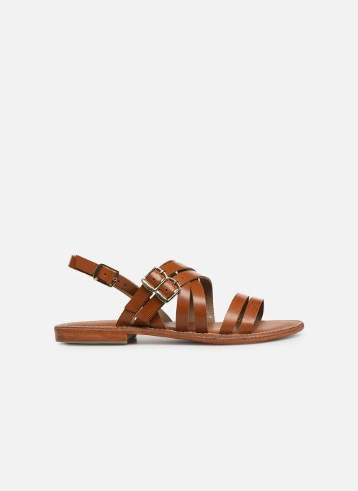 Sandals L'Atelier Tropézien SH655 Brown back view