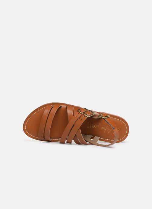 Sandales et nu-pieds L'Atelier Tropézien SH655 Marron vue gauche