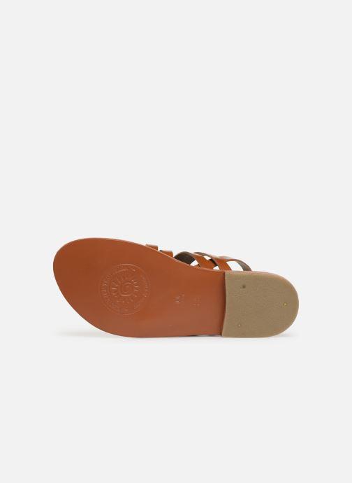 Sandales et nu-pieds L'Atelier Tropézien SH655 Marron vue haut