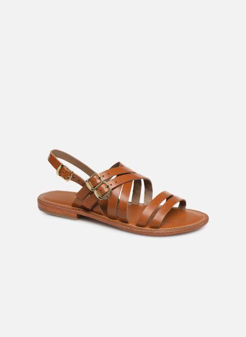 Sandales et nu-pieds L'Atelier Tropézien SH655 Marron vue détail/paire
