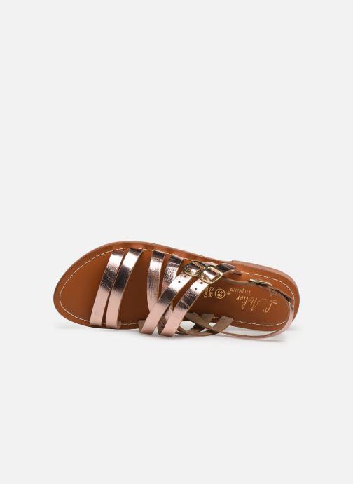 Sandali e scarpe aperte L'Atelier Tropézien SH655 Rosa immagine sinistra