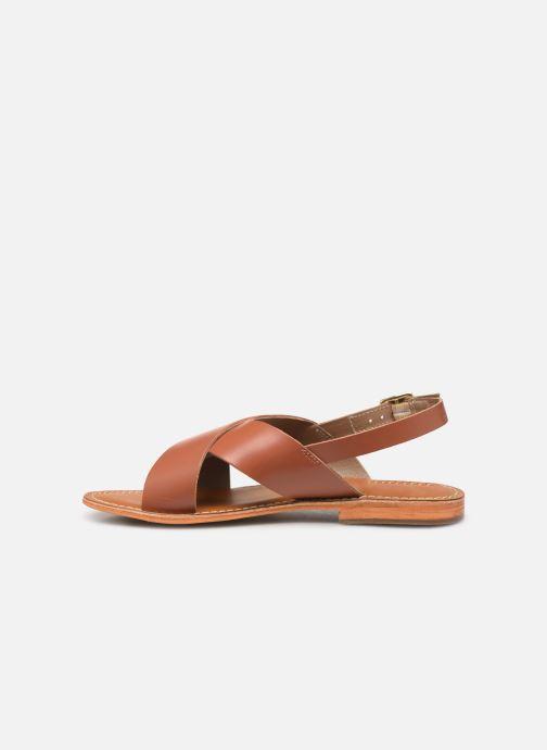 Sandales et nu-pieds L'Atelier Tropézien SB813 Marron vue face
