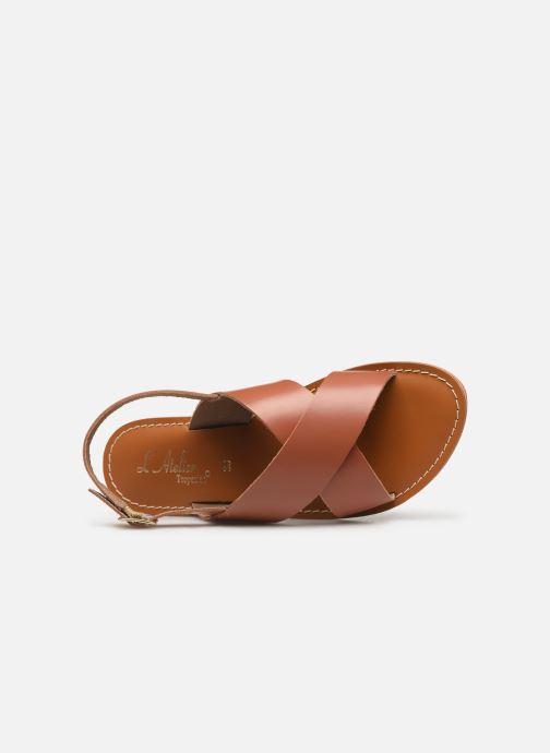 Sandales et nu-pieds L'Atelier Tropézien SB813 Marron vue gauche