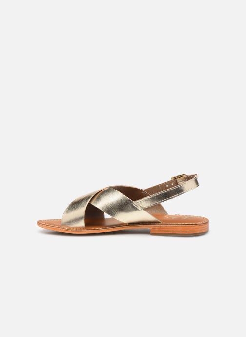 Sandals L'Atelier Tropézien SB813 Bronze and Gold front view