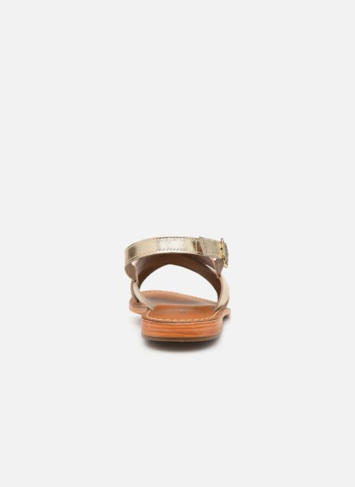 Sandales et nu-pieds L'Atelier Tropézien SB813 Or et bronze vue droite