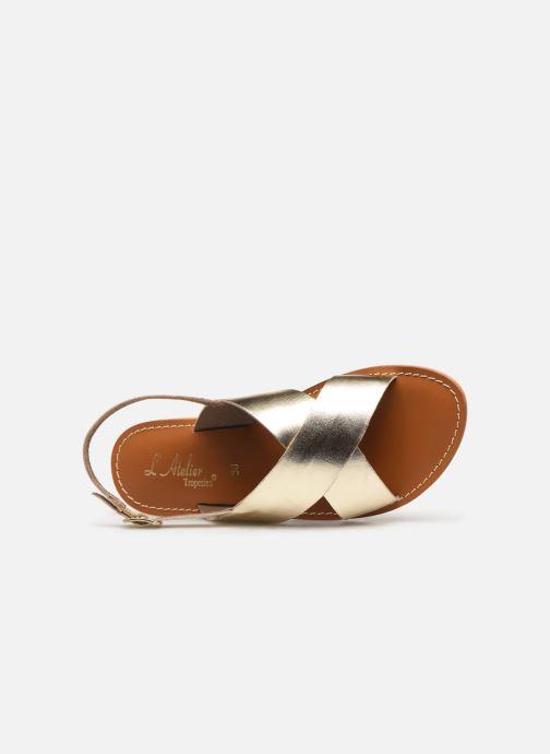 Sandales et nu-pieds L'Atelier Tropézien SB813 Or et bronze vue gauche