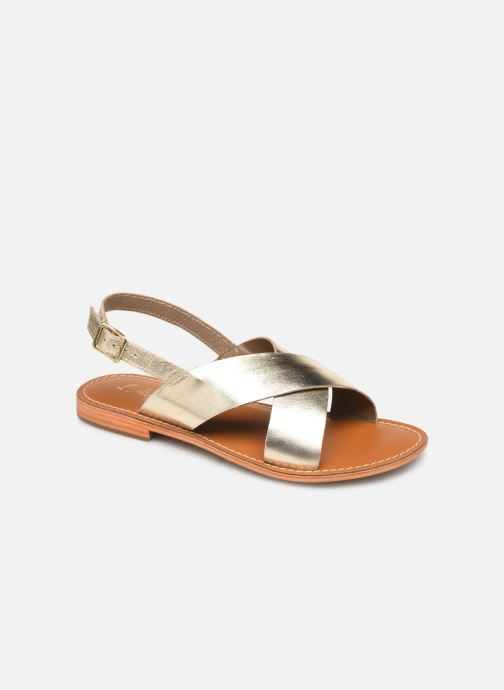 Sandals L'Atelier Tropézien SB813 Bronze and Gold detailed view/ Pair view