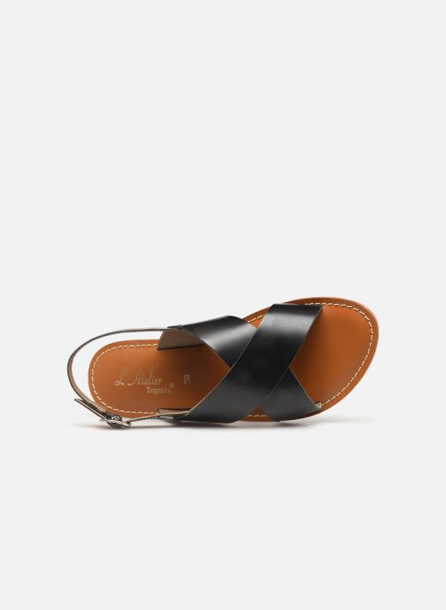 Sandali e scarpe aperte L'Atelier Tropézien SB813 Nero immagine sinistra