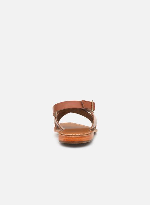 Sandales et nu-pieds L'Atelier Tropézien SB813 Marron vue droite