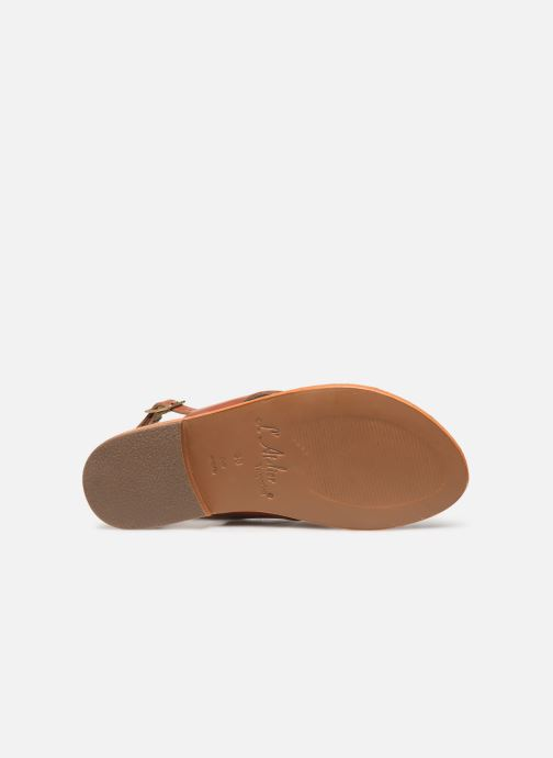 Sandales et nu-pieds L'Atelier Tropézien SB813 Marron vue haut