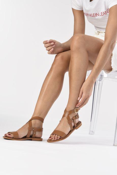 Sandales et nu-pieds L'Atelier Tropézien SH604 Marron vue bas / vue portée sac