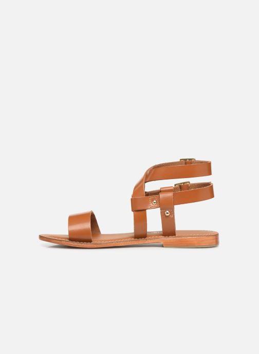Sandals L'Atelier Tropézien SH604 Brown front view