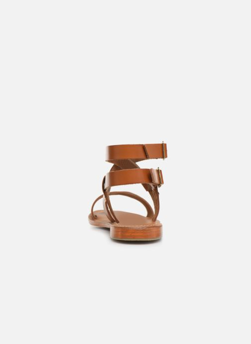 Sandals L'Atelier Tropézien SH604 Brown view from the right